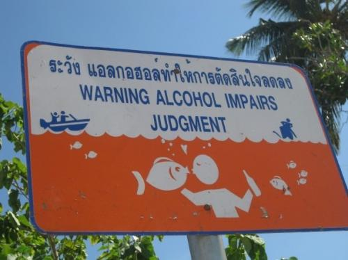 alcohol impairs judgment