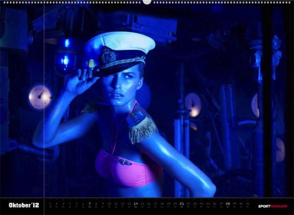 la capitaine du jour : deutsche calendrier wag