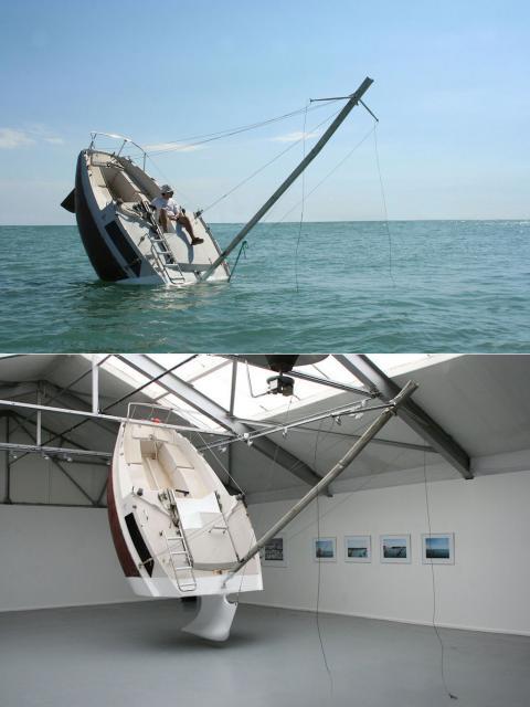 bateau qui coule amasse mousse