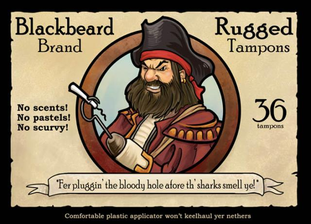 captain blackbeard tampons
