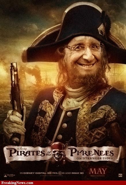 la capitaine du jour : président pirate