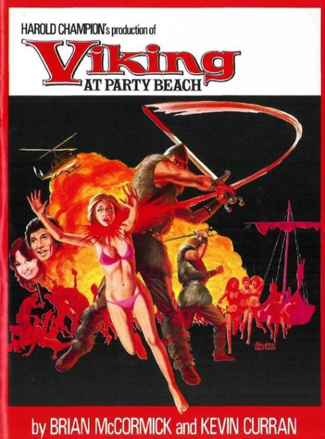 viking at the beach party