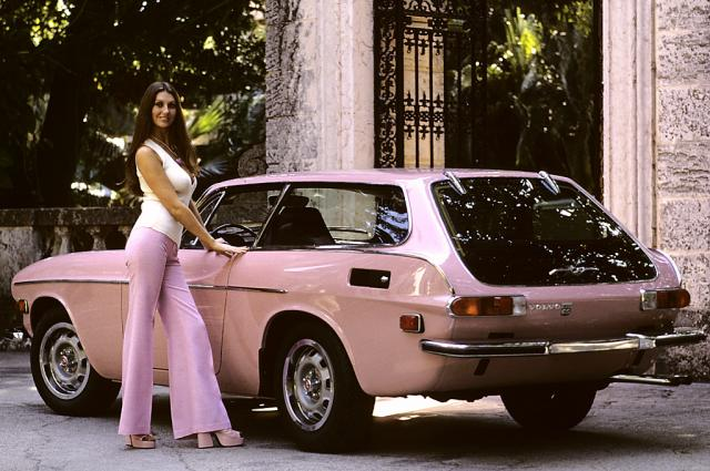 the pink volvo